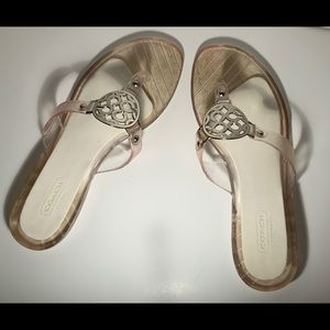 Coach Clear Jelly Flip Flops. Size 5 - 8.